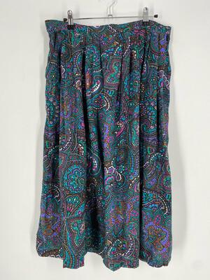 Cimy Vintage Patterned Skirt Size 32