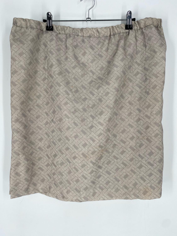 Vintage Cream Patterned Skirt Size 40
