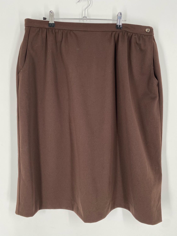 Lady Devon Vintage Brown Skirt Size 22