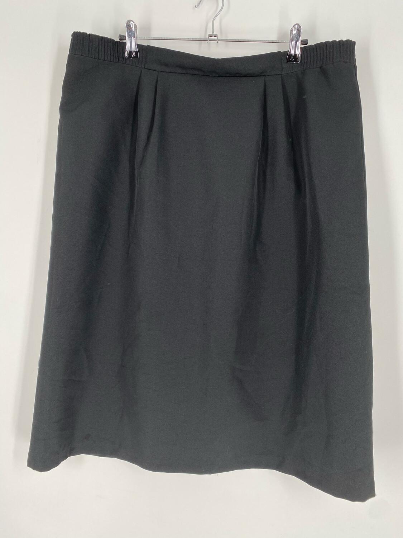 """Vintage Black Elastic Waist Skirt Size 36"""""""