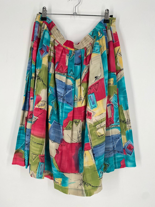 Alfred Dunner Petite Multicolor Skirt Size 14