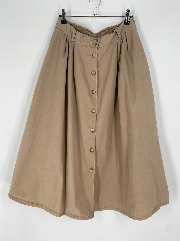 Courtney Blake Button Up Tan Skirt Size 14