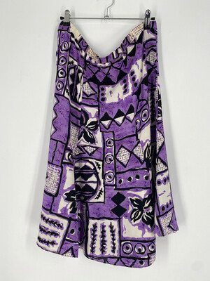 Vintage Purple Abstract Patterned Skirt Size 37