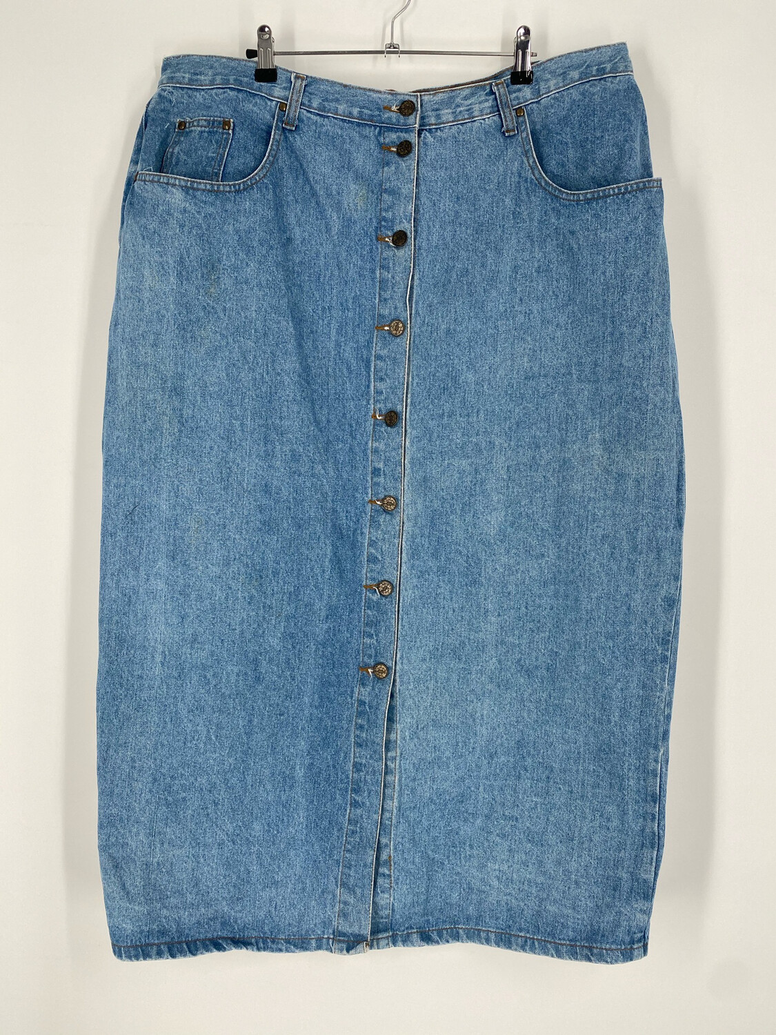 Authentic Made In The Shade Vintage Denim Skirt Size 22