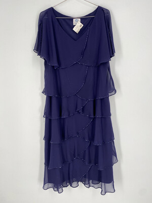 Patra Vintage Ruffle Dress Size 16