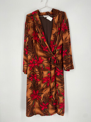 Match Floral Wrap Dress Size 14
