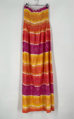 Vintage Strapless Multi Color Dress Size 1X