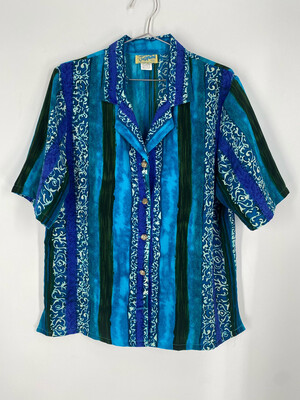 Josephine Woven Patterned Top Size 13/14