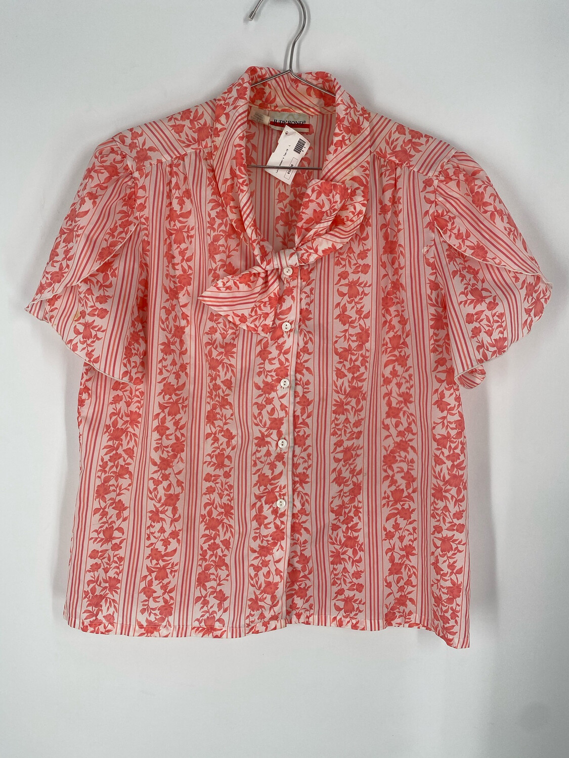 Judy Bond Floral Button Up Top Size 16