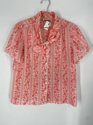 Judy Bond Floral Button Up Top Size 16