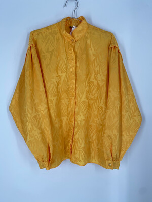 Ollini Yellow Button Up Top Size 13