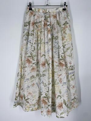 "Chris Kellogg Pastel Floral Midi 27""W"