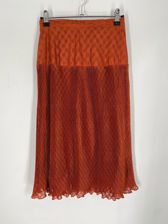 "Burnt Orange Midi Dress 24""W"