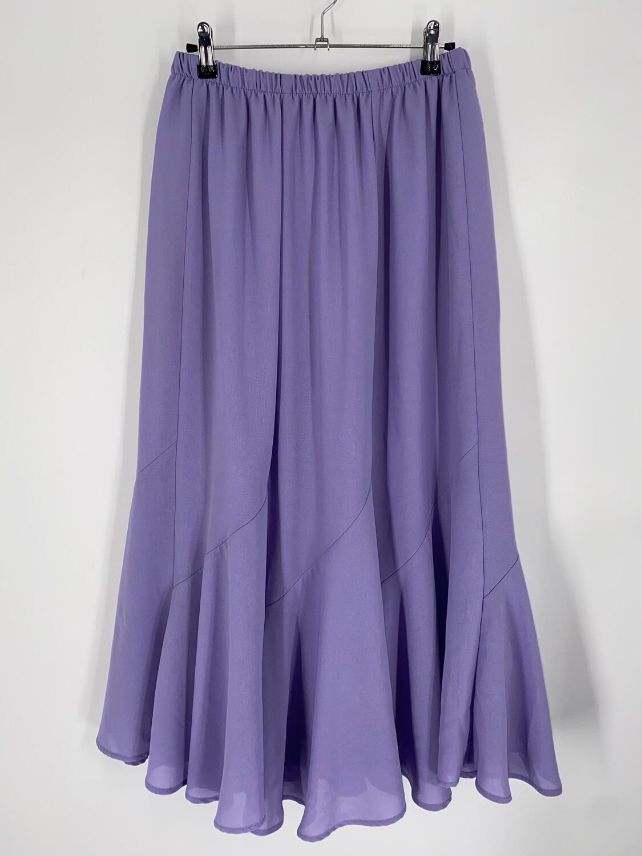 """Purple Midi Skirt 30""""W"""