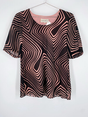 Secret Abstract Striped Top Size M