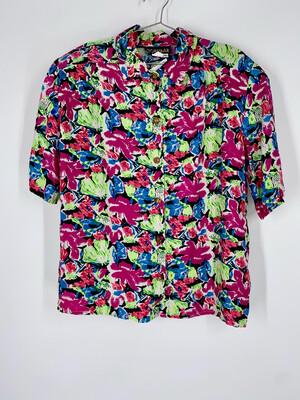 Lorimar Floral Button Up Top Size M