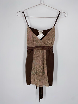 Charlotte Russe Lace Sleeveless Blouse Size S