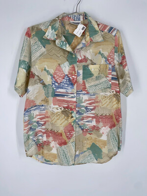 Alfred Dunner Petite Button Up Top Size L