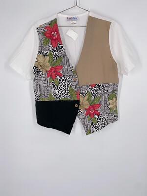 Land n Sea Faux Vest Top Size Medium