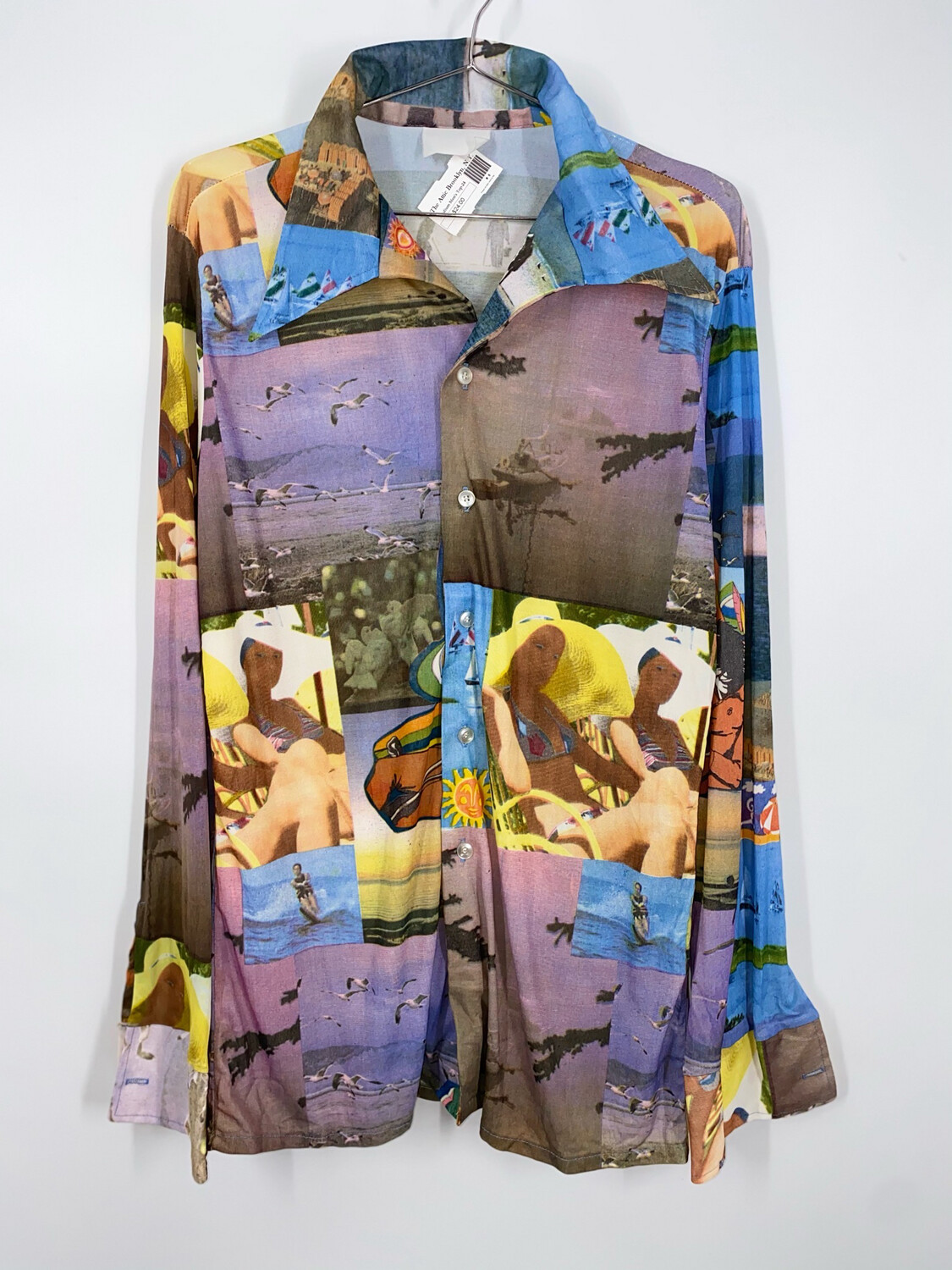 Graphic Collage Button Up Size M