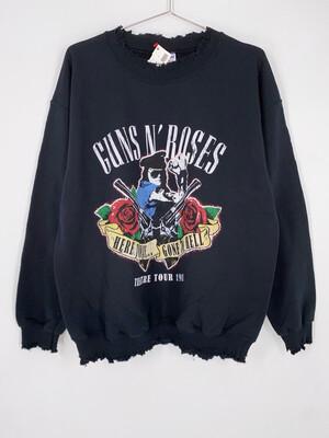 Gildan Distressed Guns N Roses Band Crewneck Size M