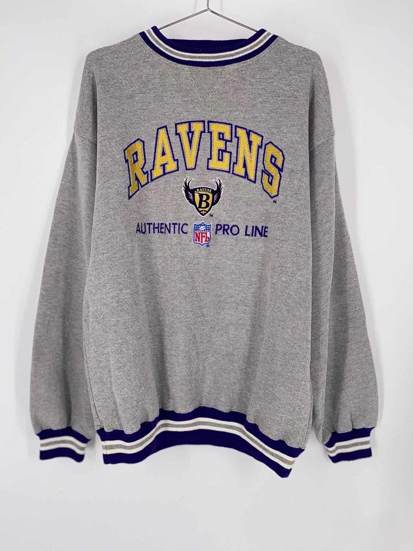 NFL Pro Line Ravens Embroidered Crewneck Size L
