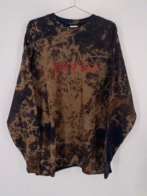 "Hanes Acid Wash ""Wild and Free"" Crewneck Size XL"