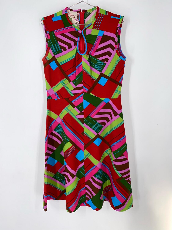 Kay Windsor Abstract Print Dress Size L