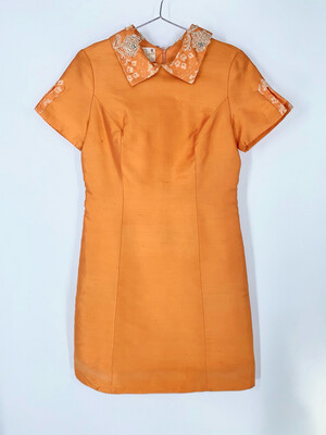 Diane Imports Beaded Collar Dress Size M