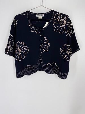 Ultra Dress Cropped Floral Blouse Size L
