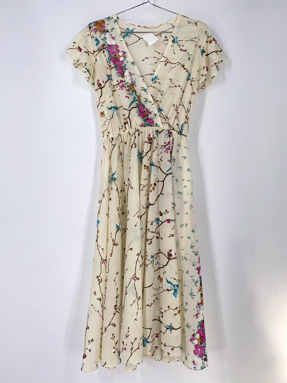 Floral Print Sheer Dress Size M
