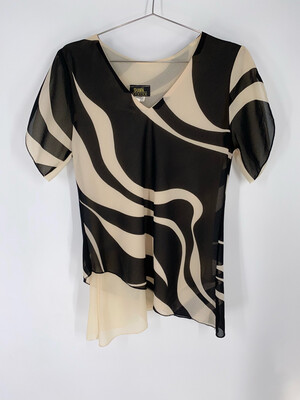 Shawn Design Abstract Print Blouse Size M