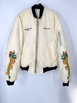 Embroidered Pieces Bomber Jacket Size L