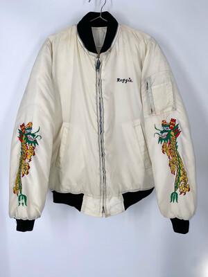 Embroidered Aquarius Bomber Jacket Size L