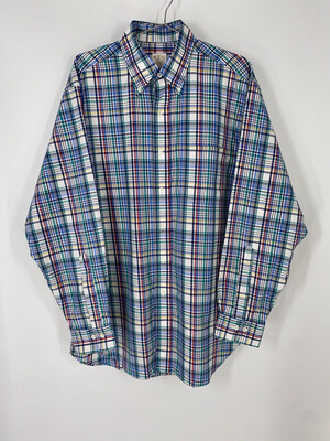 Brooks Brothers Plaid Button Down Size M