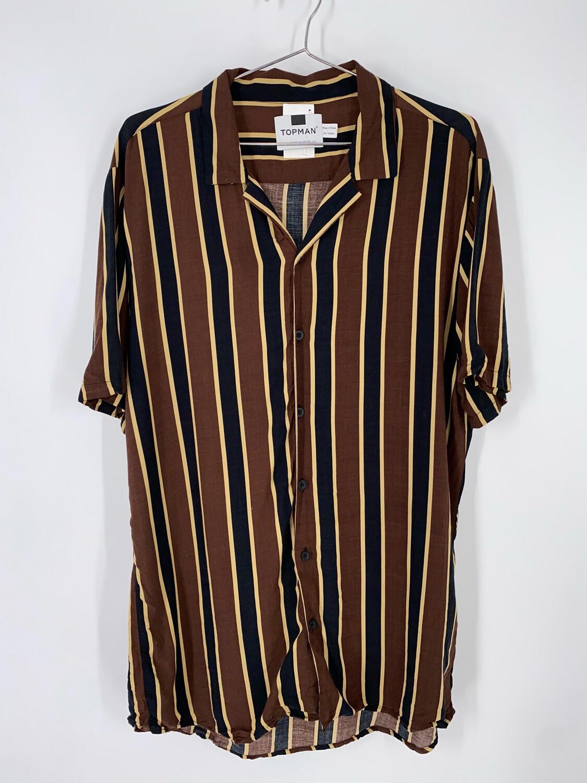 Topman Striped Button Up Size L