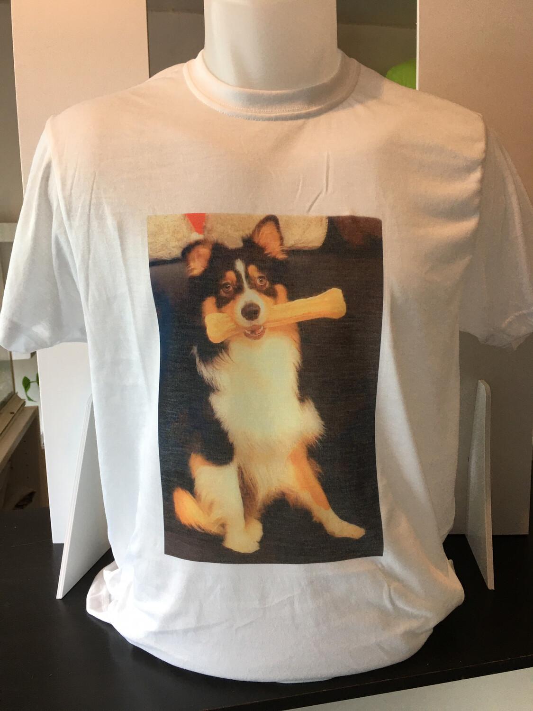 Tee-shirt BLANC personnalisés à l'unité