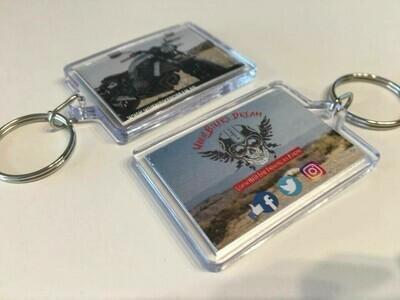 Porte-clés transparent personnalisé