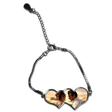 Bracelet Double cœur