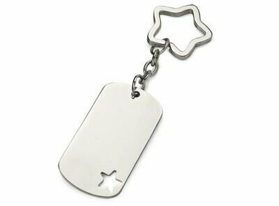 Porte-clés motif gravé