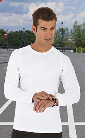 Tee-shirt Blanc, Manches Longues