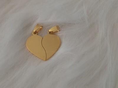 Pendentif Coeur Double gravé
