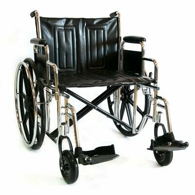 Коляска инвалидная повышенной грузоподъемности 711AE (кожзам)
