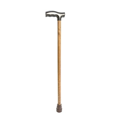 Трость деревянная с пластмассовой ручкой