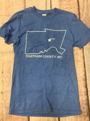 Chatham County Outline- Blue