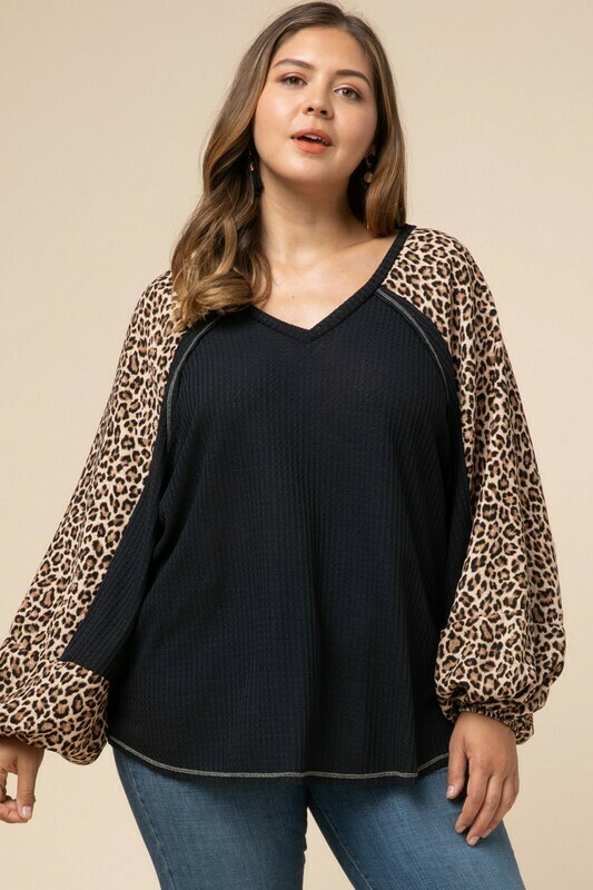 Entro Black/Leopard Top