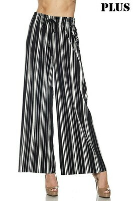 New Mix White & Black Striped Pants