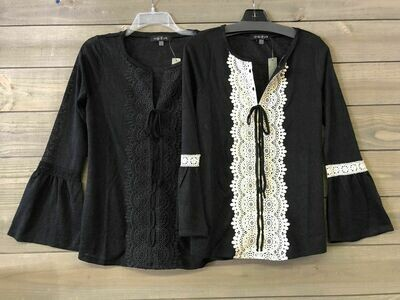 August Silk lace top