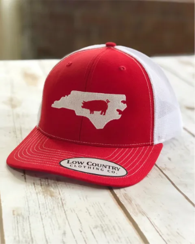 NC Pig red/white hat
