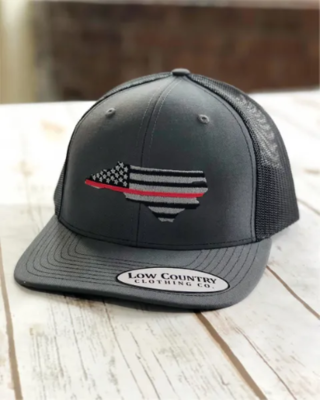NC Red Line charcoal/black hat